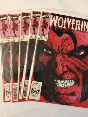Wolverine 21 Five Comic Dealer Lot