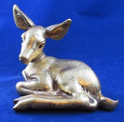 RARE HTF Freeman McFarlin George Good Gold Leaf Laying Down Deer Fawn