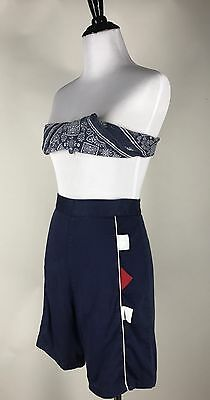 Adorable! VTG 50s 60s High Waist Pinup Shorts Geometric Tabs M
