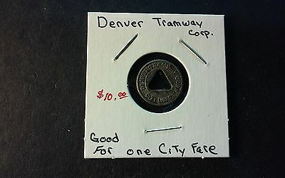 """Denver Tramway Corp. Token """"Good for one City Fair"""""""