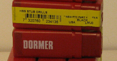 """One Lot Of 100 (10 Boxes Of 10)  Dormer Drill Bits N21 Wire (11/64"""" Equivalent)"""