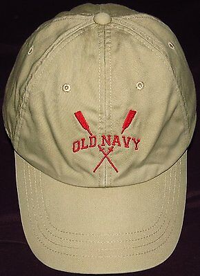 OLD NAVY Baseball Cap -  Size L / XL Adult Adjustable Leather Strap 100% Cotton