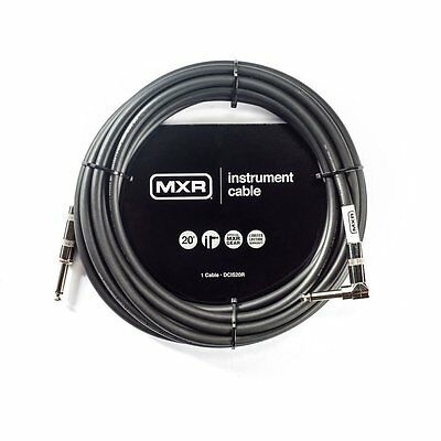 Mxr Dcis20R 20' Noiseless Instrument Cable Straight-Right Angle Jack Guitar Lead