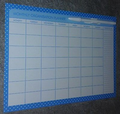MONTHLY MAGNETIC PLANNER. GREAT GIFT IDEA..PERFECT FOR HOME or OFFICE ITEM 3