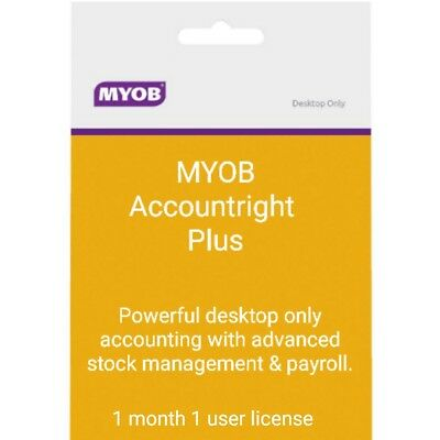 MYOB - AccountRight Plus 1 month license