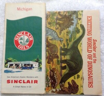 Sinclair Oil Road Map And Dinoland Brochure