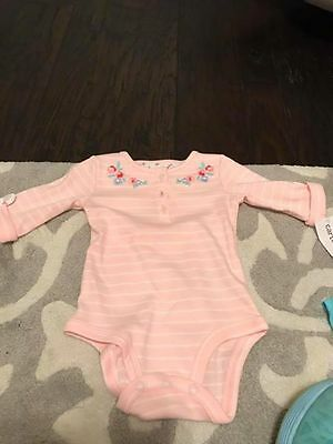 Carter's NWT baby girls long sleeve bodysuit Size 6m