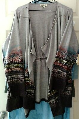 One World women's cardigan cover up  2X