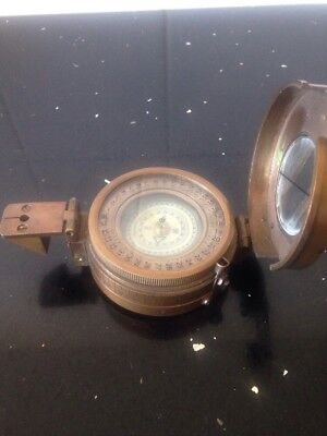 Solid Brass Nautical British Military Compass Replica
