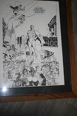 Superman framed print by Jerry Robinson 400th issue commemorative