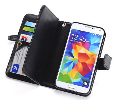 Luxury Flip Cover Wallet Card Holder PU Leather Phone Case for Samsung Galaxy S5