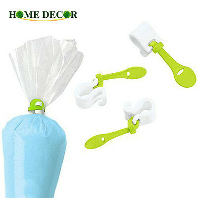 3PCs Cretive Cream Pastry Bag Icing Piping Cake Decorating Bag Buckles Easy Use