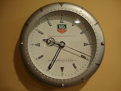 """TAG HEUER 14"""" WALL CLOCK dealer display 100% authentic"""