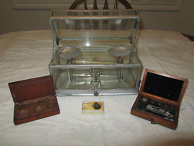 Antique Pharmacy Scale  Springer Torsion Balance Co Ny With Scale Weights 1882