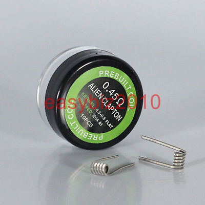 Alien Clapton Coils A1 pre built coils 0.45ohm with free gift 2pcs MUJI cotton