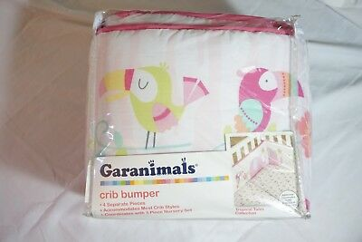 """Baby's Tropical Tales Collection 4 Pcs. Girl Crib Bumper by Garanimals 30"""" x 40"""""""