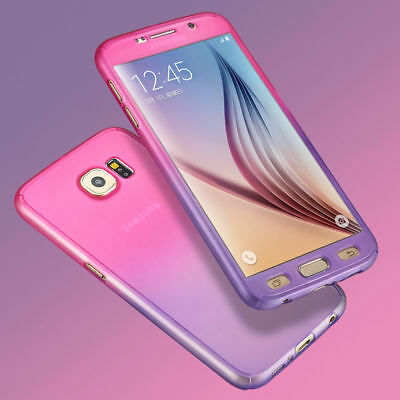 360° Full Hybrid Tempered Glass + Acrylic Hard Case Cover for Samsung Galaxy S6