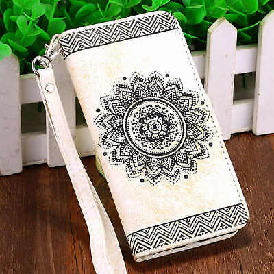 Card Holder Leather Flip Wallet Case Cover Stand Floral For Apple iPhone 5 5S SE
