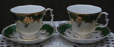 Two Royal Albert matching teacups and saucers