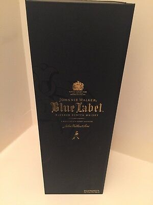 2-Johnnie Walker Blue Label Empty Boxes 750ml **BOTTLES NOT INCLUDED **
