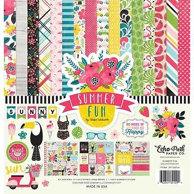 "Echo Park Collection Kit - SUMMER FUN - 12x12"" papers + stickers"