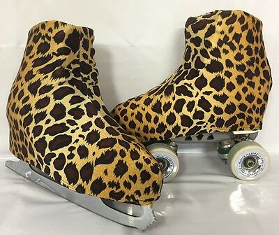 Leopard Print Boot Covers for RollerSkates and Ice Skates  S,M,L