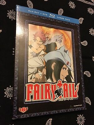 Fairy Tail: Part 6 (Blu-ray/DVD, 2013, 4-Disc Set)  PERFECT DISCS!!! Anime