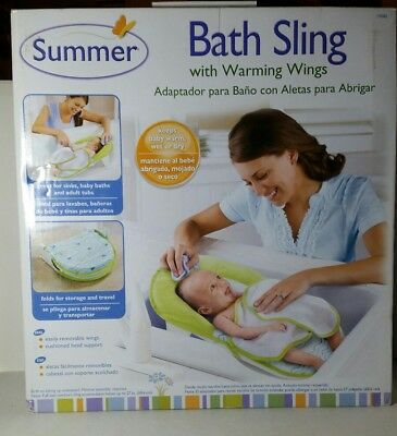Summer Infant Bath Sling with Warming Wings Unisex Baby Bathing New In Box