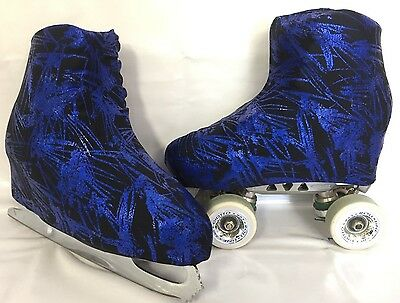 Royal Paint Strokes Boot Covers for RollerSkates and Ice Skates  S,M,L