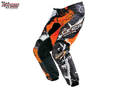 O'Neal 2018 Element Shocker Hose Schwarz Orange Pant Motocross Enduro Cross NEU