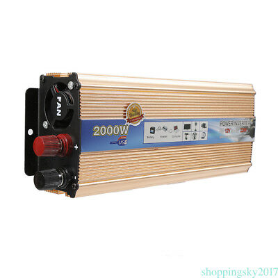 2000W Auto Powerful Inverter 12V-220V Converter Modified sine wave 31.5x15x6.5cm