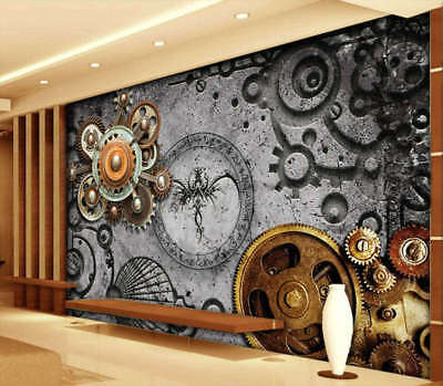 Stereo Gear 3D Full Wall Mural Photo Wallpaper Printing Home Kids Decoration