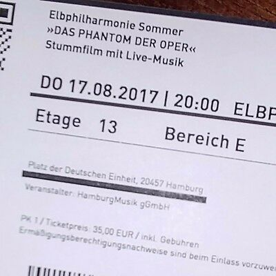 2 tickets elbphilharmonie anima eterna brugge gershwin. Black Bedroom Furniture Sets. Home Design Ideas