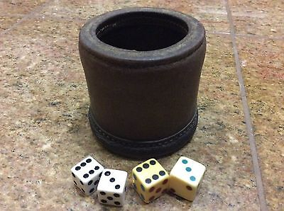 Vintage Leather dice cup