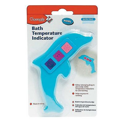 Clippasafe Dolphin Shape Bath Water Thermometer - Bath Time/Baby/Child/Toddler