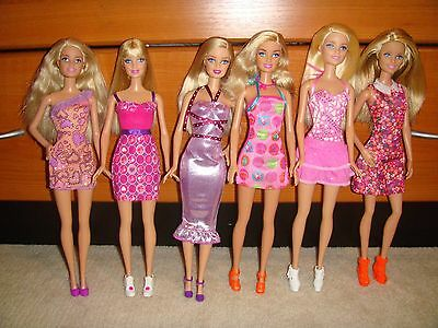 Barbie Doll Lot Of 6 Dolls Fully Clothed With Shoes Excellent Condition Lot 51
