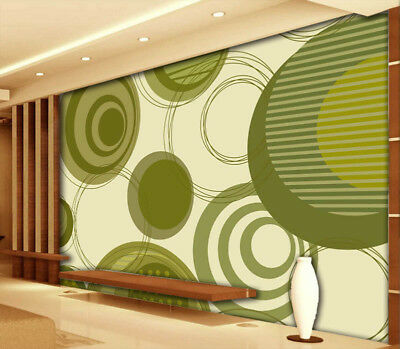 Simple Circle 3D Full Wall Mural Photo Wallpaper Printing Home Kids Decoration