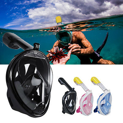 UK Breath Full Face Mask Surface Diving Snorkel Scuba for GoPro Swimming Tools