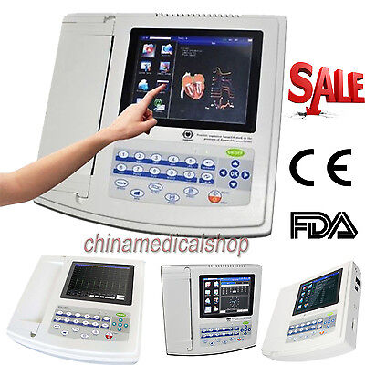 US Touch Screen Electrocardiograph ECG/EKG 12 channel/lead cardiograph ECG1200G