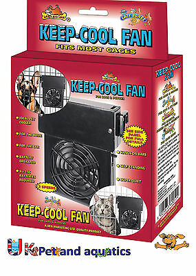 Keep Cool Fan Pet Fan, For Dogs, Cats, Birds, Rabbits Cages.