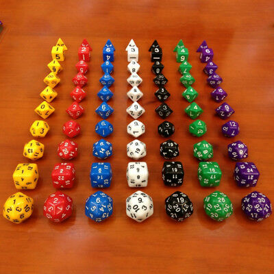 New 7pcs/Set TRPG Game Dungeons & Dragons Polyhedral Acrylic Dice