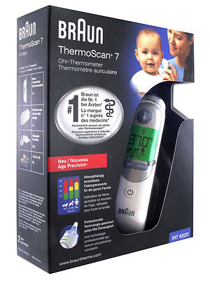 NEW! Braun ThermoScan 7 IRT 6520 Baby/Adult Professional Digital Ear/ 21 lens!