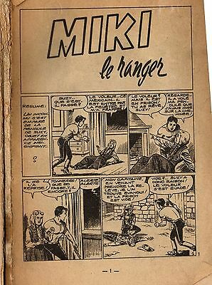 Comic Book in FRENCH.  'Miki le Ranger', Vintage. old