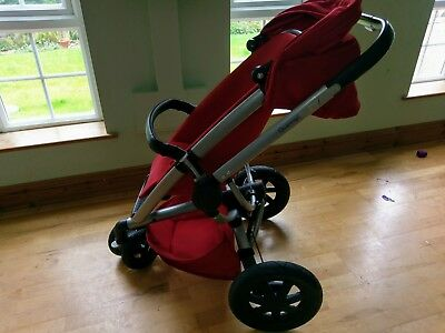 Quinny Buzz Extra Red Rumour new model travel system. Carrycot, pram, stroller.