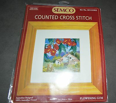 Semco Counted Cross Stitch Kit New Unworked 'red Flowering Gum'