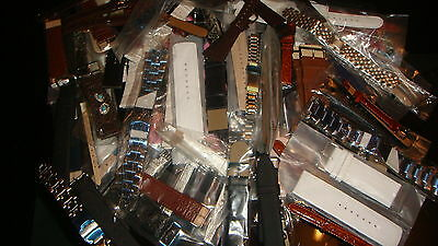 TRADE JOB LOT OF 50 X MIXED BOX OF NEW  WATCH STRAPs LOOK AT MY FEEDBACKS ?.//.