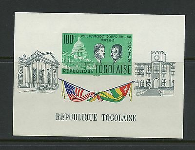 Togo 1962  #437A  Kennedy visit flags IMPERF  sheet  MNH  K785