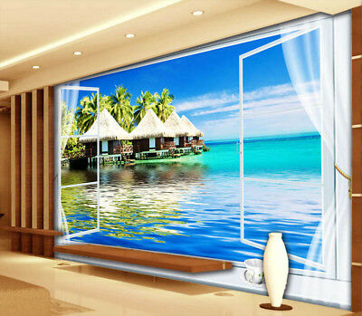 Quiet Maldives 3D Full Wall Mural Photo Wallpaper Printing Home Kids Decoration