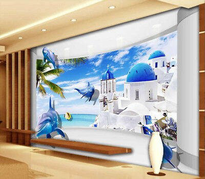 Many Sea Animals 3D Full Wall Mural Photo Wallpaper Printing Home Kids Decor