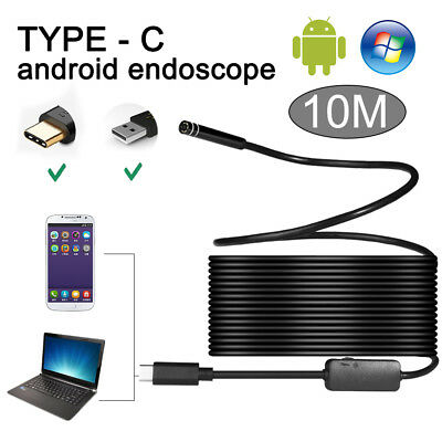 10M Wasserdicht TYPE C Starr Endoskop USB Inspektion HD Kamera für Android PC